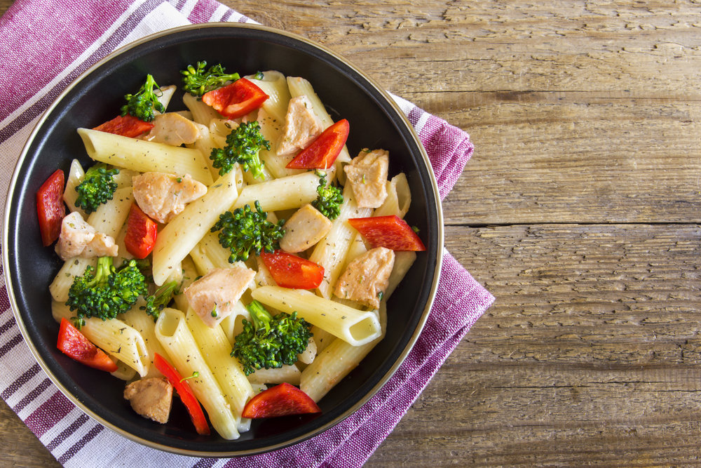 pastasalade met kip